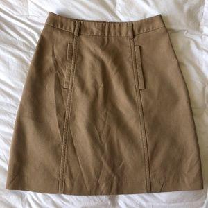 JACOB Tan High-Waisted A-Line Skirt